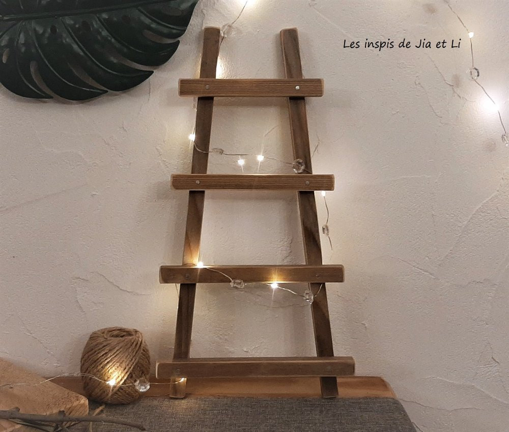 echelle decorative en bois recycle