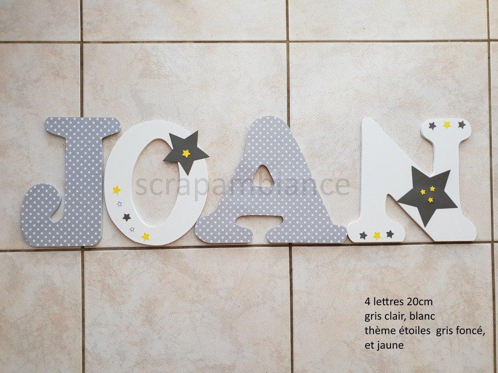 lettres prenom en bois decoration