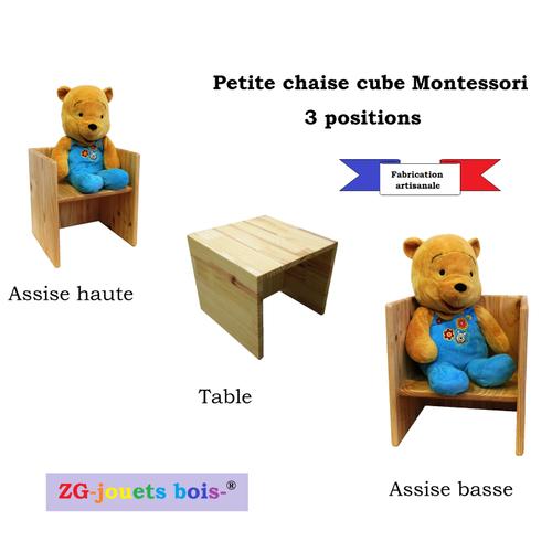 chaise cube montessori chaise 3 en 1