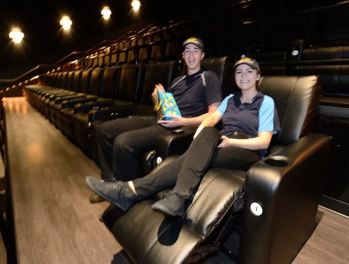 home theater chairs canada cb2 phoenix chair cineplex plays catch-up with landmark | the london free press