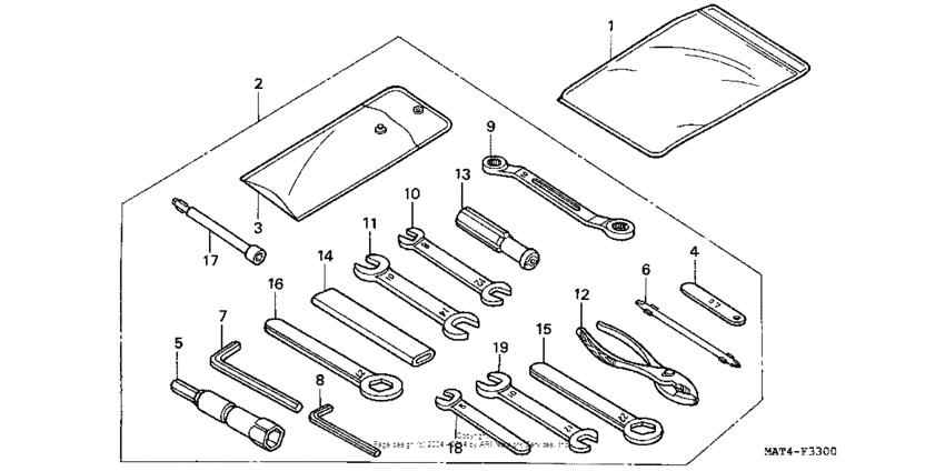 Tools for 2000 Honda CBR1100XX CBR1100XX (SUPER BLACKBIRD