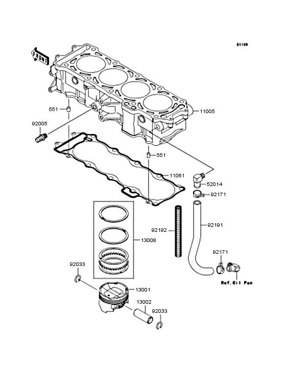 Cylinder/piston for 2010 Kawasaki JET SKI ULTRA 260X