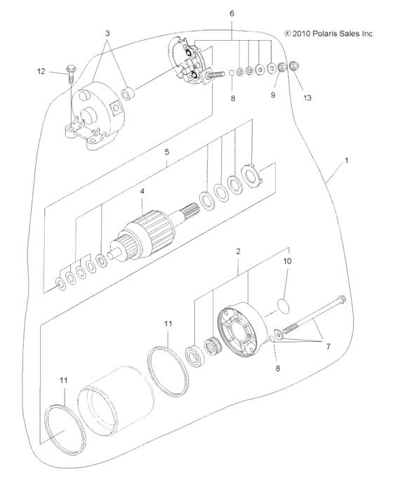 Engine, Starting System для Polaris SPORTSMAN TOURING 550