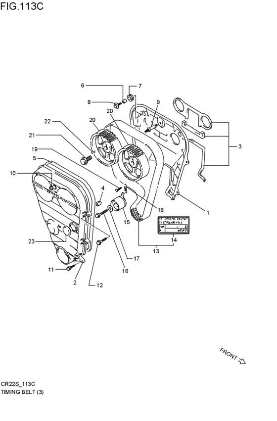 timing belt for 1994 Suzuki ALTO/A-STAR/CELERIO CR22S