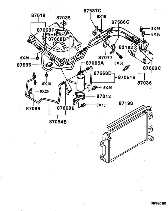 A/c cond, piping(manual:a) для Mitsubishi BRAVO U44V, год