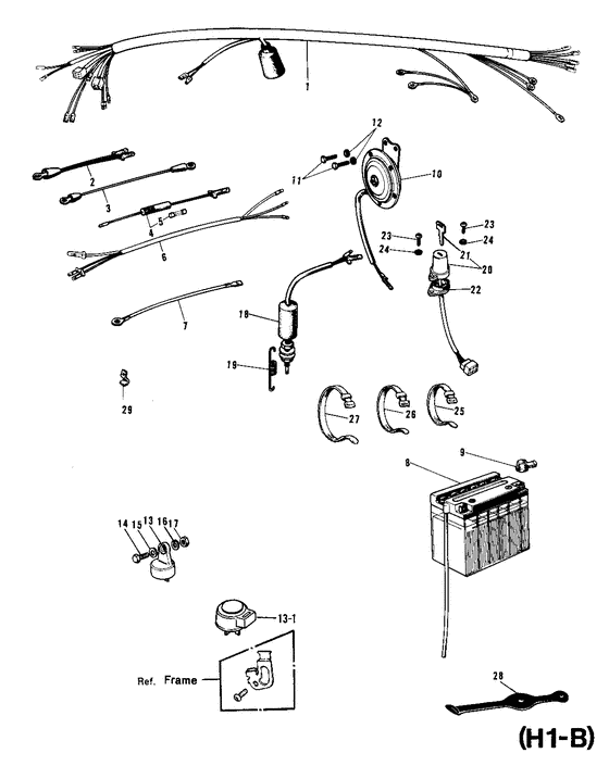 Chassis electrical equipment for 1969 Kawasaki Model