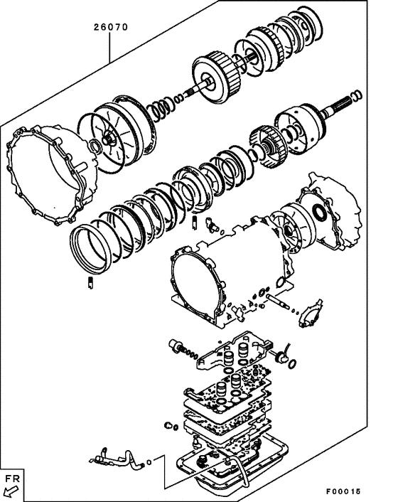 Ремкомплект для ремонта АКПП для Mitsubishi PAJERO/MONTERO
