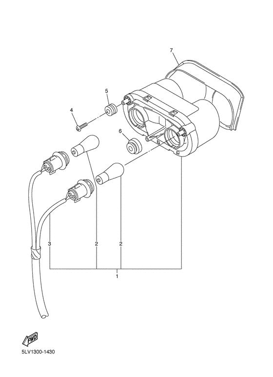 Задний фонарь (Стоп-сигнал) для Yamaha FZS1000, год: 2001