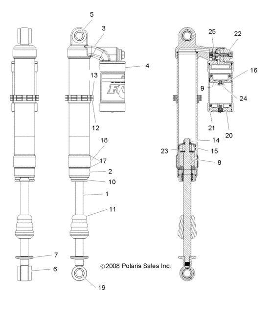 Suspension, front shock for 2010 Polaris RANGER RZR