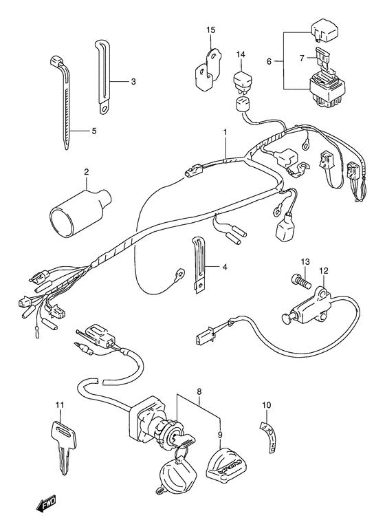 Wiring harness for 2002 Suzuki LT80 LT80 (QuadSport
