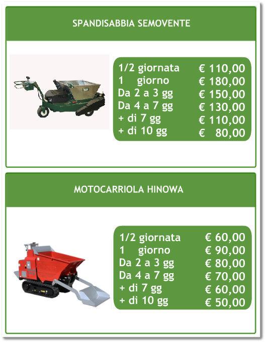 Noleggio macchine agricole per giardinaggio  Olbia  Tempio  Progetto Verde