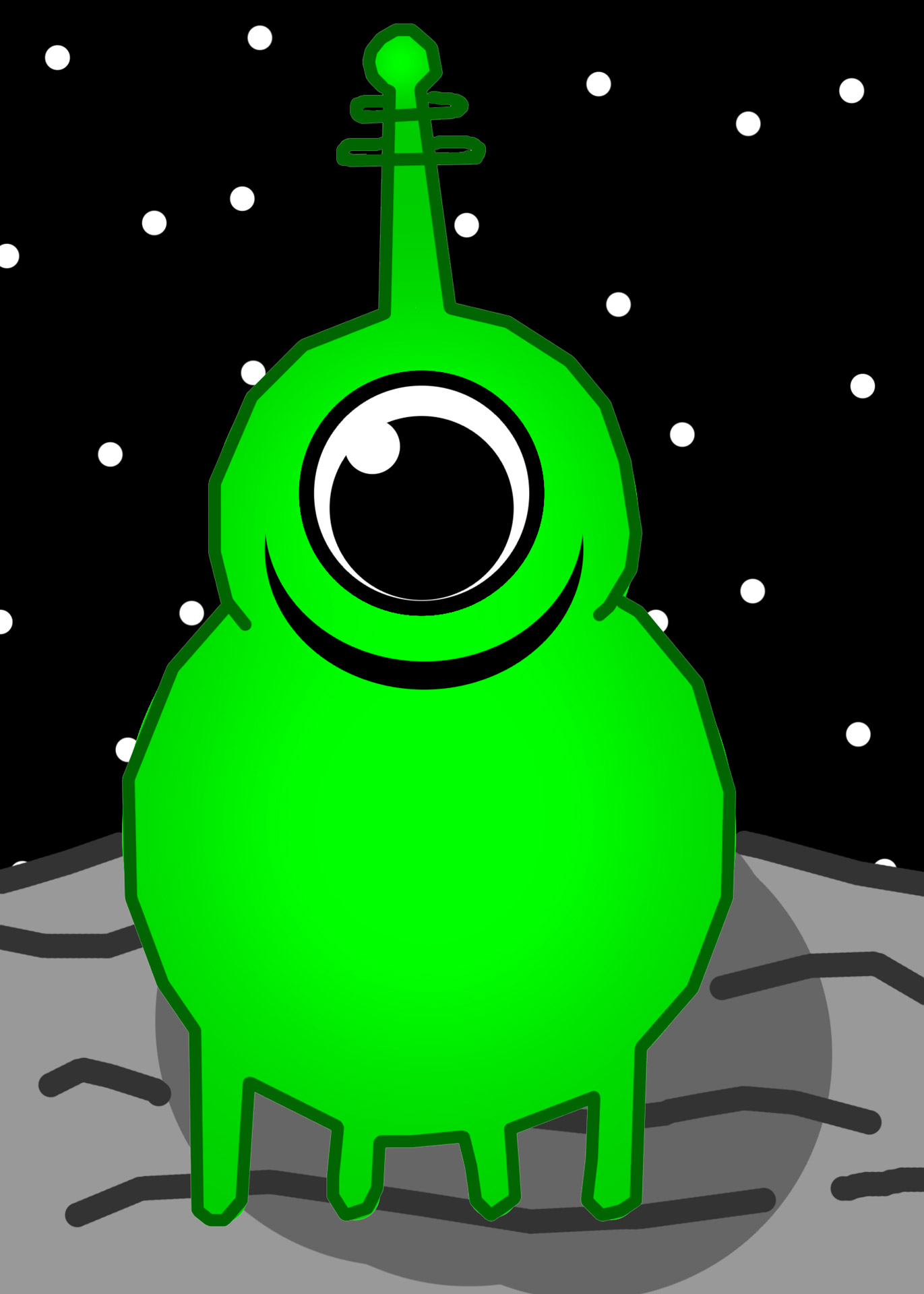 hight resolution of green alien martian free picture