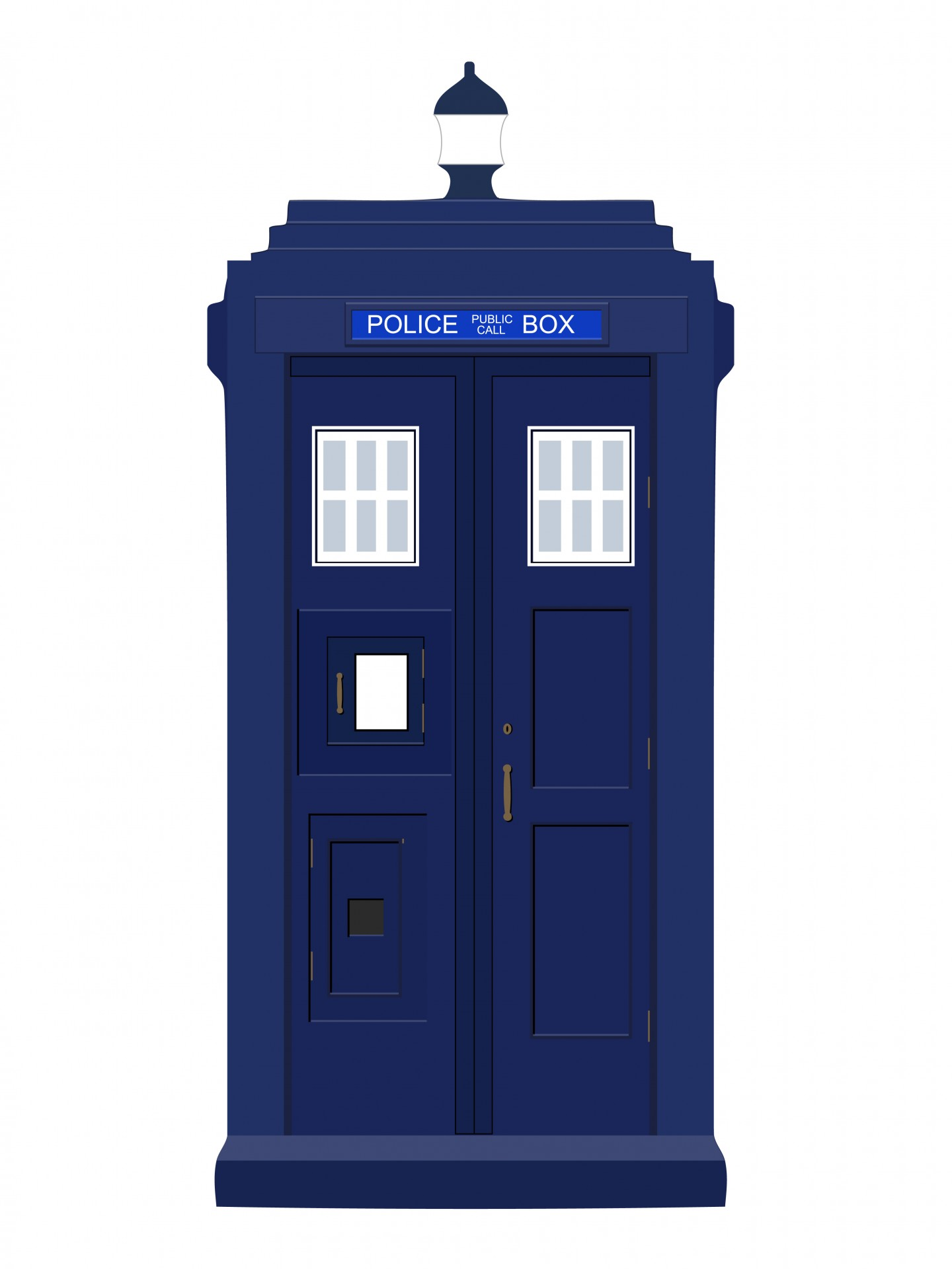 hight resolution of police box blue vintage free picture