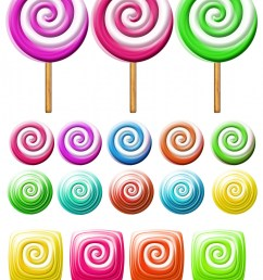 bright lollipops icons over white background clipart candy clipart free picture [ 1535 x 1920 Pixel ]
