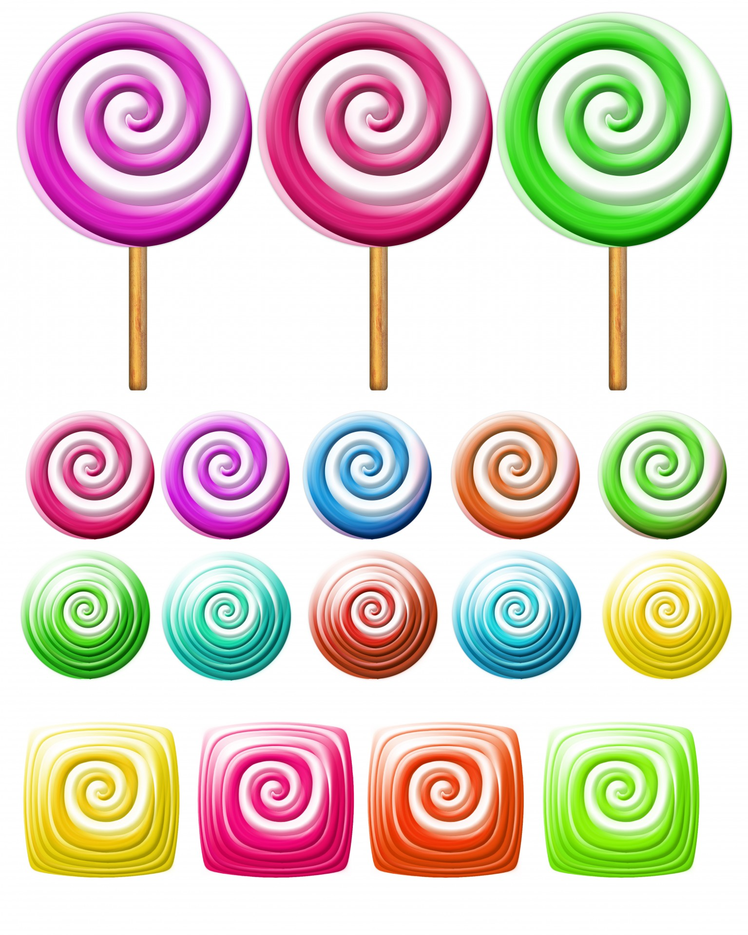 hight resolution of bright lollipops icons over white background clipart candy clipart free picture