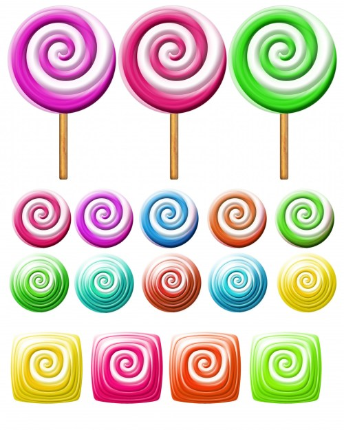 small resolution of bright lollipops icons over white background clipart candy clipart free picture