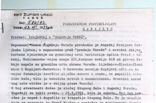 Izvještaj fra Ilije franjevačkom provincijalu - undefined