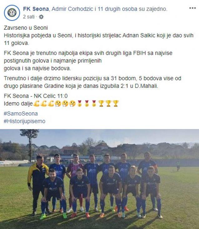 FK Seona dolazi nam iz Seone kod Srebrenika - undefined