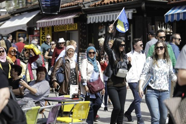 Foto: Anadolija/Aprilski dan u Sarajevu