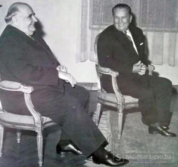 Foto: Tito ilustrovana biografija/Krleža i Tito 1963.