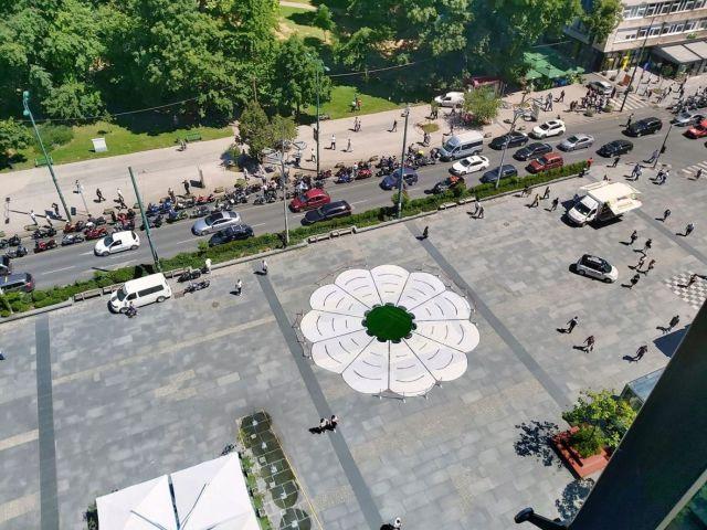 U centru Sarajeva postavljen Cvijet Srebrenice - undefined