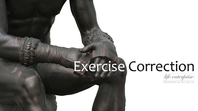 Exercising correction Art Work