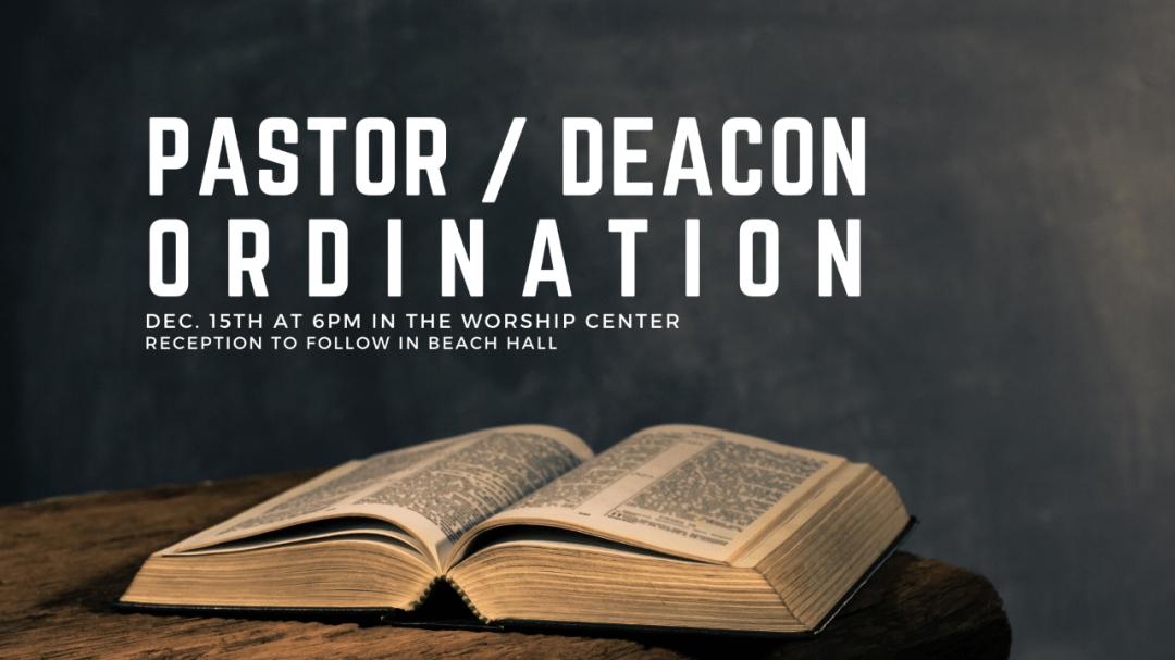 Pastor & Deacon Ordination Art Work