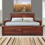 Buy Sophia Solidwood King Bed With Box Storage Walnut Online Evok