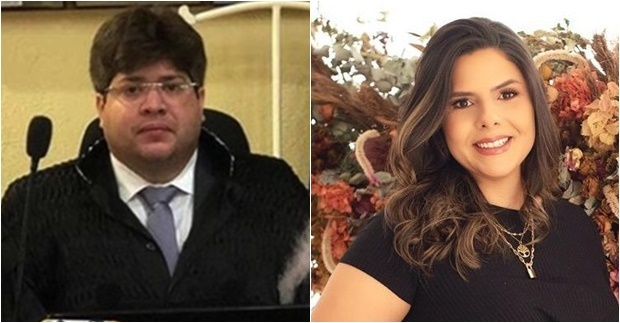 Juiz Thiago Ferrer e a advogada Ívilla Araújo