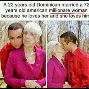 22yr old Dominican marries a 72 year old American woman