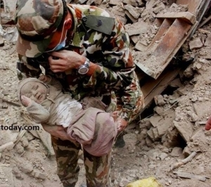 4-Month-Old Baby Found Alive After 4 Days In Nepal Earthquake Disaster