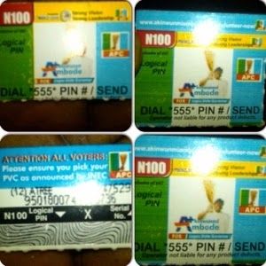 APC Adverts Now On N100 MTN Recharge Cards #2015election