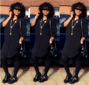 Actress Mercy Aigbe steps out in edgy all-black ensemble