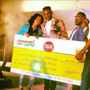 Adekunle Gold Beats Olamide, Patoranking & Kiss Daniel, Wins  'Beat Of Lagos Award & Plot Of Land In Lekki'