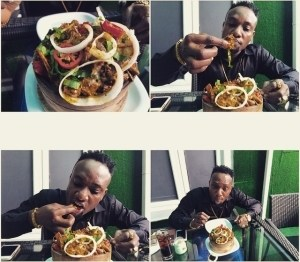 African Man! Kcee Shares Photo Of Himself Enjoying 'Goat-Head' – PHOTO