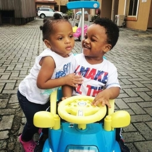 Aww...Paul Okoye shares adorable pic of Aliona & his son, Andre