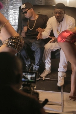 BTS Photos: TeeBlaq shoots 'Nicki Minaj' featuring Olamide