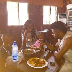 Basketmouth And Wife Celebrate Good Friday With Hot Amala And Fish