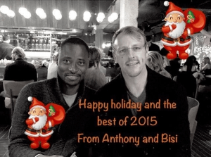 Bisi Akande Proudly Shows Off Gay Lover On Christmas Greeting Card