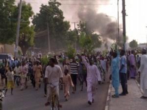 Blasphemy: Youths Protest In Kano, Burn Shariah Court