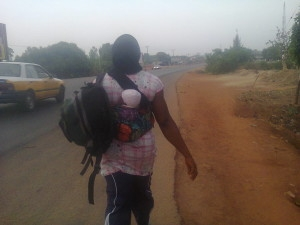 Buhari's Victory: Woman, With 40 Day Old Baby, TreksTo Abuja To Fulfil Vow (See Photo)