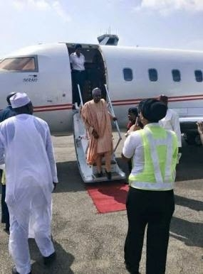 Buhari Arrives Abuja To Await Announcement Of Results By INEC