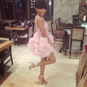 Checkout Mo' Cheddah's Fabulous Look In Lovely Outfit At Genevieve Pink Ball(photos)