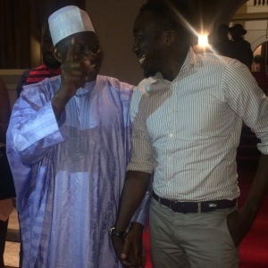 Comedian Bovi & President Jonathan Smile at Each Other, What Was The Joke About?   Peep