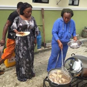 Empress Njama Cooks With Patience Ozokwor | Photos