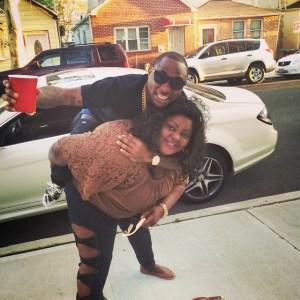 Eniola Badmus Carries Davido On Her Back | Photo