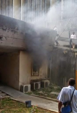 Fire outbreak at UNILAG yesterday