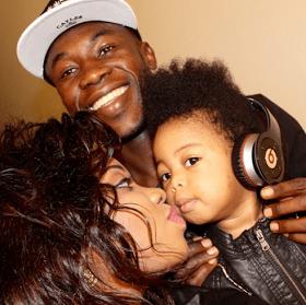 Footballer Sunday Emmanuel shares cute pics of his family