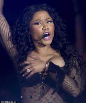 For The Guys Dem! Nicki Minaj Suffers Public Wardrobe Malfunction – PHOTOS