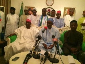 Gen. Buhari addresses the media on his certificate controversy